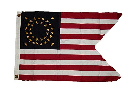 ALBATROS Cotton Union Cavalry Guidon 2 ft x 3 ft ft Embroidered Flag Civil War 35 Star Army for Home and Parades, Official Party, All Weather Indoors Outdoors