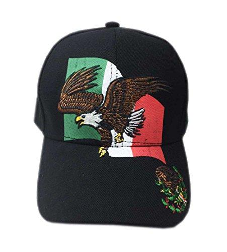 Aesthetinc Mexico Flag Hecho En Logo Baseball Cap Hat Embroidery Design (Eagle Flag) (Eagle Flag Embroidery)