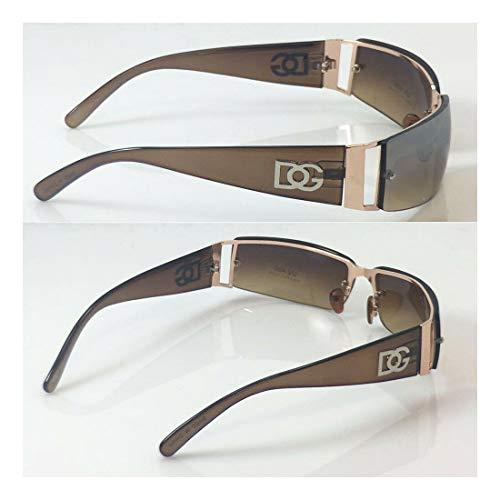 Dg Eyewear Wholesale - Wholesale Unisex DG Eyewear Fashion Design Sunglasses Rectangular 7085 Brown