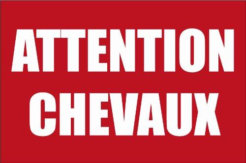Panneau Attention chevaux panneauxsignaletiques.fr