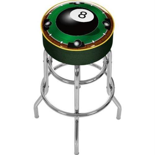 8 Ball Padded Bar Stool - 6