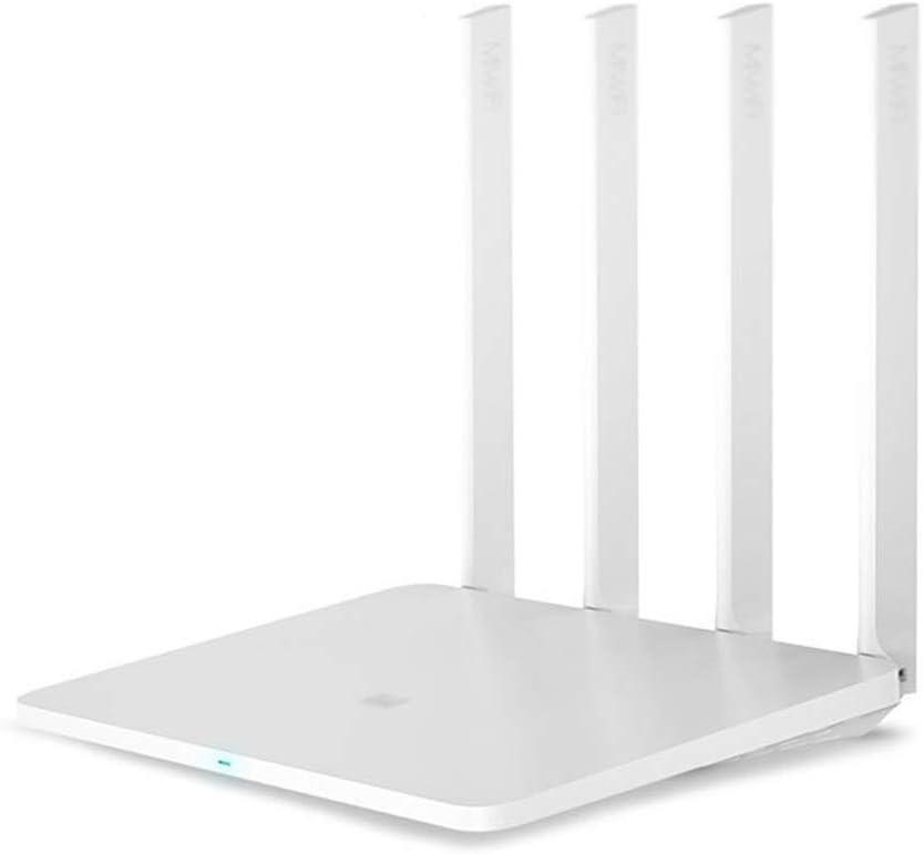 BingWS -Routers Router Original Xiaomi Mi WiFi 3G 1167Mbps 2.4GHz 5GHz Dual Band 128MB ROM Wi-Fi 802.11ac Cuatro potentes Antenas de Alta Ganancia (Color : White, tamaño : Add EU Adapter)