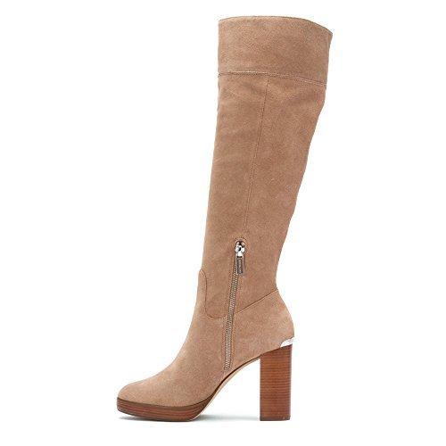 MICHAEL Michael Kors Women's Regina Suede Platform Boots, Dark Khaki, 5 B(M) US