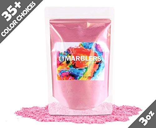 (Marblers Powder Colorant 3oz (85g) [Pink] | Pearlescent Pigment | Tint | Pure Mica Powder for Resin | Dye | Non-Toxic | Great for Paint, Concrete, Epoxy, Soap, Nail Polish, Cosmetics)