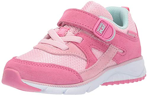 Stride Rite Baby Ace Boy's and Girl's Premium Leather Sneaker, Pink, 5.5 M US Toddler