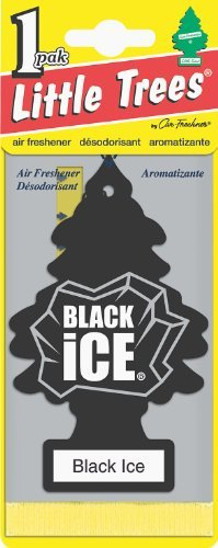 Little Trees 31152 Black Ice Pack of 12 Hanging Paper Tree for Home or Car, 12 - Ice Tree