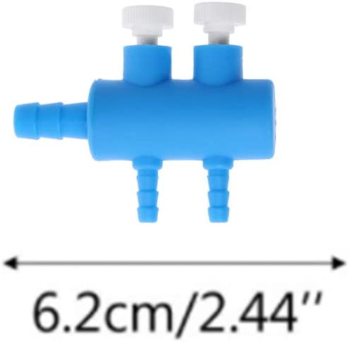 Fish Tank Air Flow Divider 2 Way Plastic Switch Control Valve Aquarium Regulate Oxygen Pump Splitter Home Supplies