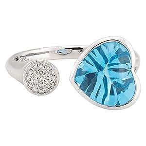 365Love Women's 18K Gold Diamond Ring - 14 US