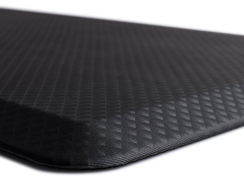 "The Original 3/4"" KANGAROO (TM) Non-Slip Anti-Fatigue Comfort Mat, Ergonomically Engineered, Non-Toxic, Waterproof, 32x20 inches (Black)"