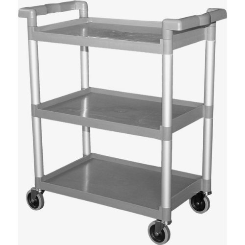 GSW Functional Plastic Utility Bus Cart, 16-1/4″ x 33-1/4″ x 39″ For Sale