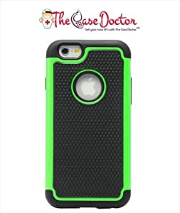 TCD for Apple 6 [4.7 inch ONLY] [GREEN] Executive Armor Defender Series [HIGH IMPACT] Multi Layer [Hard/Soft Combo] TPU & Hard Plastic Shock Absorbant Case with [FREE SCREEN PROTECTOR & STYLUS PEN]