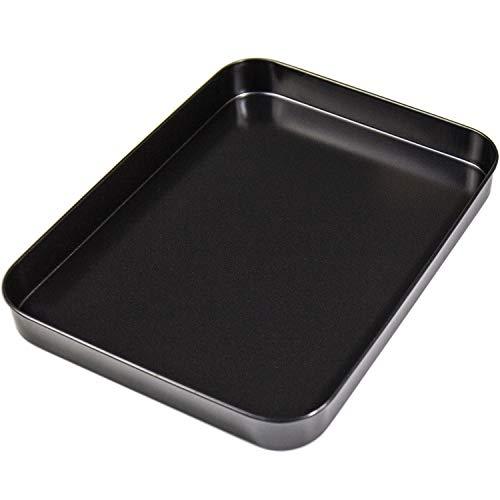 """Cake Pan - Nonstick Bakeware Commercial Grade Bake Pan Rectangular Baking Pan 10"""" x 7"""",Black"""