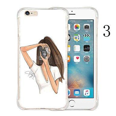 Fundas y estuches para teléfonos móviles, favoritos de la reina de silicona suave de caja transparente para iPhone 6s 6 más ( Color : # 3 , Modelos Compatibles : IPhone 6s/6 ) # 2