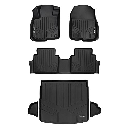 SMARTLINER Floor Mats and Cargo Liner (Factory Upper Deck Position) Set Black for 2017-2018 Honda CR-V