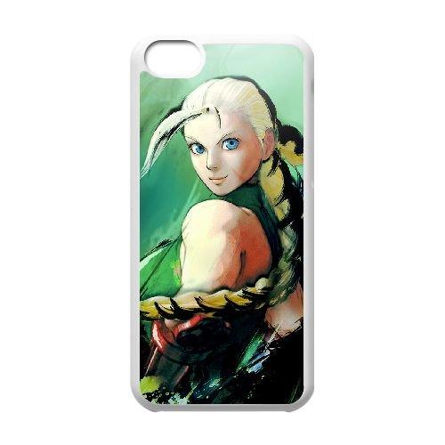 Street Fighter Iv 4 coque iPhone 5c cellulaire cas coque de téléphone cas blanche couverture de téléphone portable EEECBCAAN02515