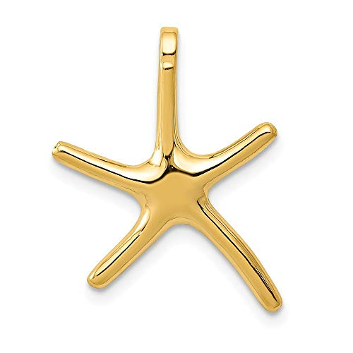 14K Yellow Gold Starfish Chain Slide Pendant from Roy Rose Jewelry ()