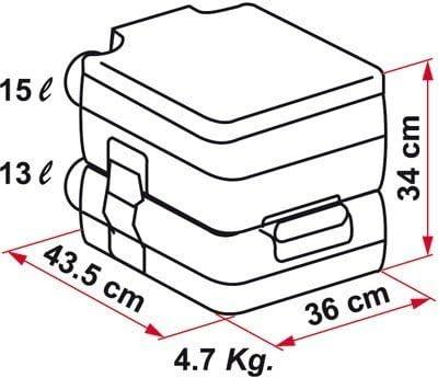 Fiamma 01354-01 Bi-Pot 34 Inodoro port/átil