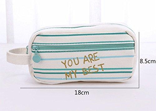 cupcinu 120cm Bleistift Fall für Mädchen Multifunktional Aufbewahrung Make Up Coin Tasche mit großem Fassungsvermögen 18×8.5×7CM a C