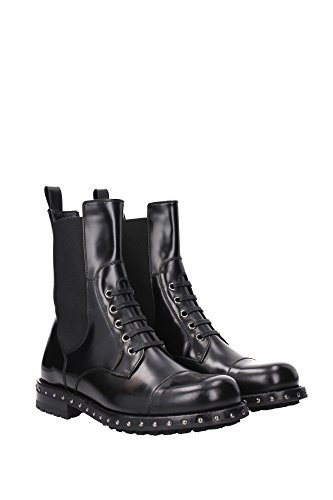 Dolce & Gabbana womens mid calf booties in black calf leather - Model number: CT0216 AC801 80999 Black d6h6I