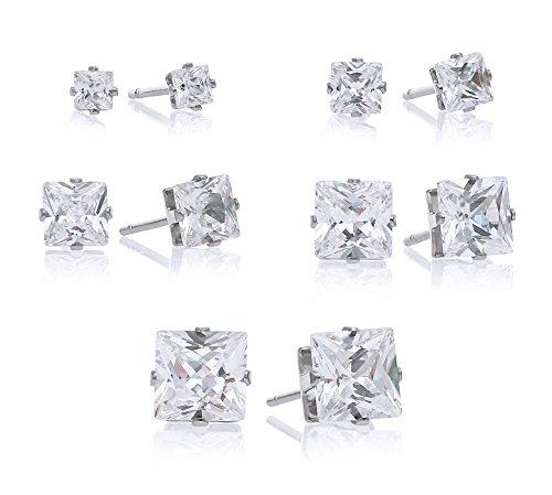 Stainless Earrings Zirconias Regetta Jewelry