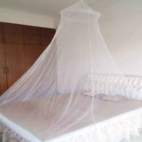 Ushoppingcart Elegant Durable and practical Baby Mosquito Net Baby Toddler Bed Crib Canopy Netting -Soft and Stretchy Baby Netting-Made of See-through Mesh Cloth with 25 Holes per Square Centimeter-Add Elegance to Your Precious Baby Toddler's Room (White)