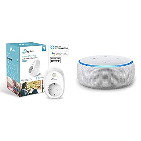 Echo Dot gris antracita + TP-Link HS110(EU) - Enchufe inteligente: Amazon.es: Informática