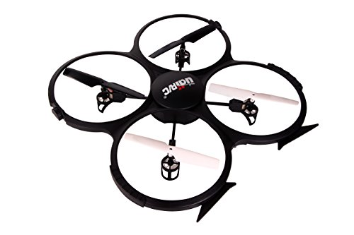 ToyThrill-UDI-U818A-24GHz-Headless-Mode-HD-Camera-Remote-Control-Quadcopter-Drone-UAV-Toy-with-3-Batteries-Black
