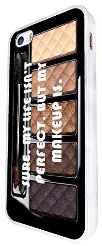 662 - Makeup Perfect Life Design iphone SE - 2016 Coque Fashion Trend Case Coque Protection Cover plastique et métal - Blanc
