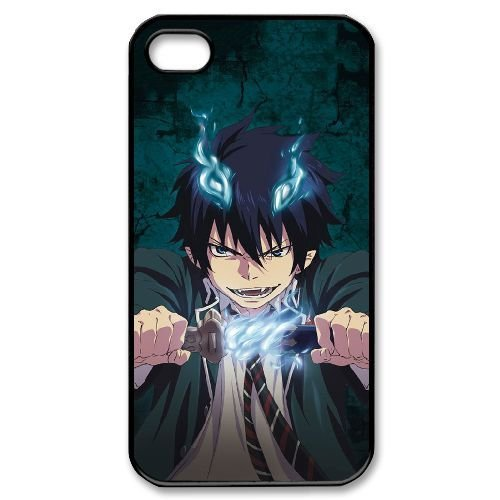 Blue Exorcist Hard Plastic Snap-On Case Skin Cover For iPhone 4 4S Black LPA1927