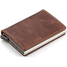 Secrid Men Slim Wallet Genuine Leather Vintage RFID Safe Card Case for max 12 cards