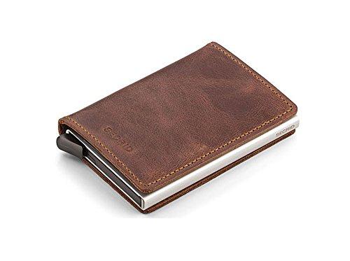 Leather cards Card Safe 12 Secrid for Slim Case Men Wallet max Brown Genuine Vintage RFID qCOI4wCn