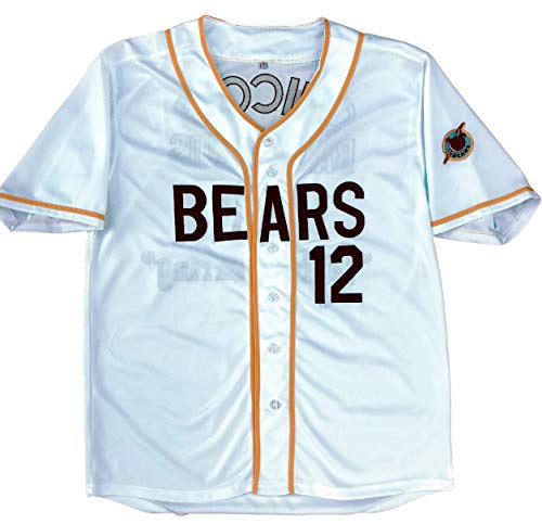MVG ATHLETICS Bad News Bears Movie Baseball Jersey #12 Embroidered S-XXL (Small)