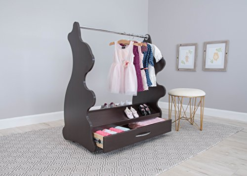 Ace Baby Furniture Rabbit Mobile Dress-Up Clothes and Shoe Organizer, Espresso Wenge