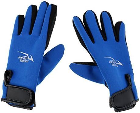 Pair of 2mm Neoprene Warm Gloves Swimming Diving Surfing Spearfishing Gloves