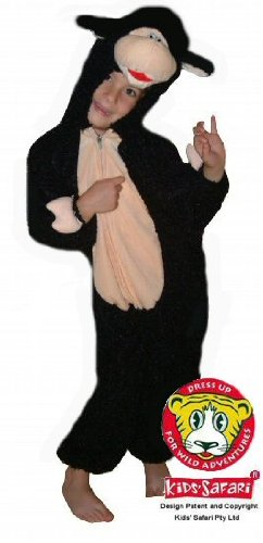 Safari Plush Costume FB-Blk-Lamb-M Lamb- Medium