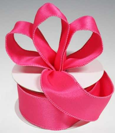 3 Spools - 1-1/2 Satin Wired Edge Hot Pink Ribbon - 30 Yards Total