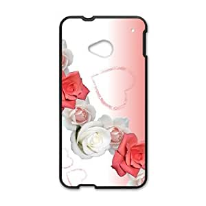 Roses Vintage Postcard HTC One M7 Cell Phone Case Black NRI5105735