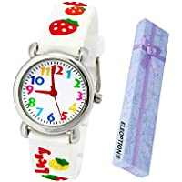 Eleoption Waterproof Kids Watches for Kid Girls Boys Toddlers Watch 3D Cute Cartoon Silicone Wristwatches Time Teacher Gift for Little Kids Boys Girls Children Birthday Gift