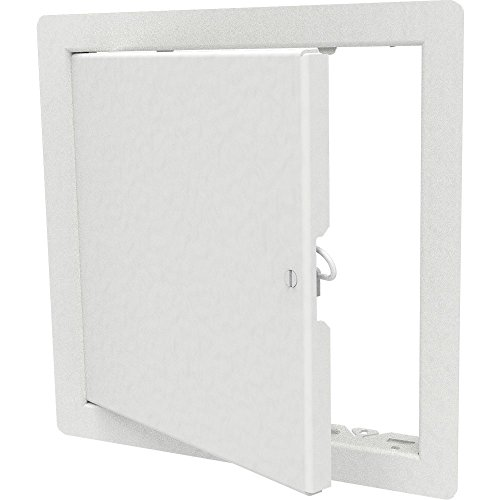 "Babcock-Davis 14"" x 14"" Architectural Access Door, White, Flush Mount, Cam Latch"