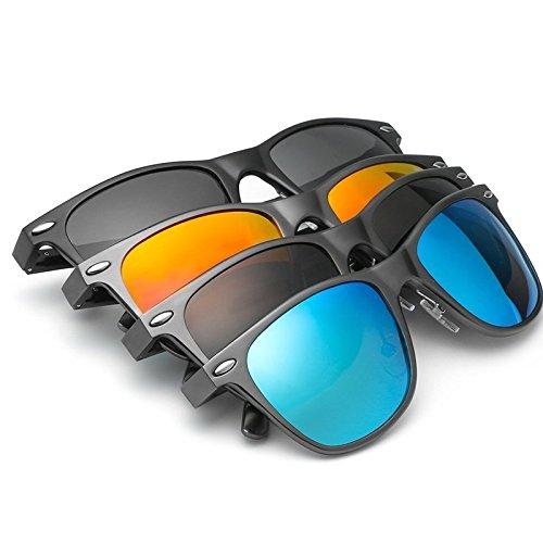 Sol Sol de arroz Gafas Protección JCH Unisex Gray orange uñas de de de polarizadas Gafas UV Vintage clásicas qASEfw8