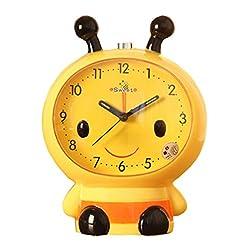 Black Temptation Creative Bee Alarm Clock Bedside Alarm Clock for Kids/Students Yellow #01