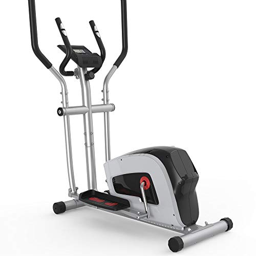 Home Elliptical Cross Machine Smooth Quiet Drive with Tension Control and LCD Monitor