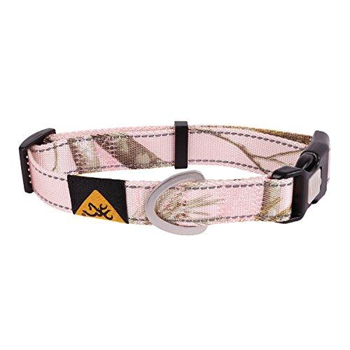Xtra Large Dog Collar (Browning Classic Dog Collar Camo Dog Collar, Classic Hunting Dog, Xtra Pink, Large)