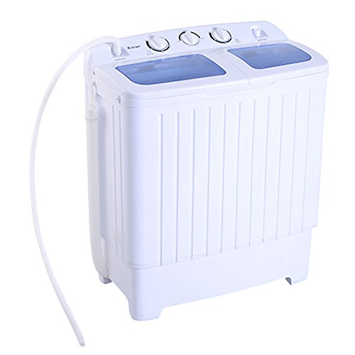 Price comparison product image Giantex Portable Mini Compact Twin Tub 11lb Washing Machine Washer Spin Dryer