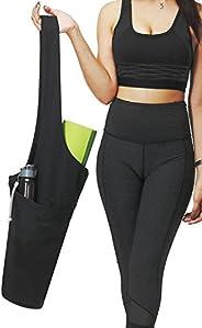 Yoga Mat Bag by ONEGenug   Yoga Mat Tote Sling Carrier with Large Side Pocket & Zipper Pocket   Fits Most