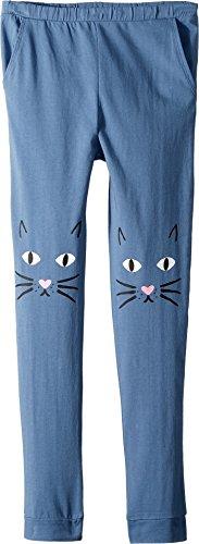 Cotton Jersey Knee Pants - Chaser Kids Girl's Jersey Meow Knees Sweatpants (Big Kids) ST Tropez 8