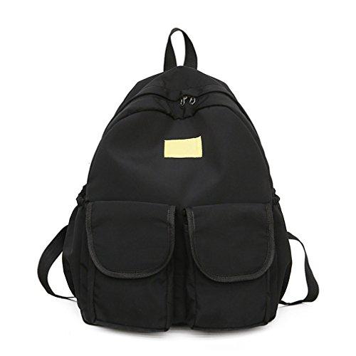 Black Backpacks Ladies Backpack Female For Girls Women Fabric Very Kaoling School Soft Good Taste ROvq5