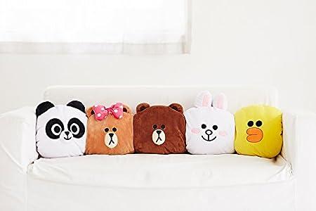 Amazon.com: LINE FRIENDS - Cojín suave para siesta, diseño ...