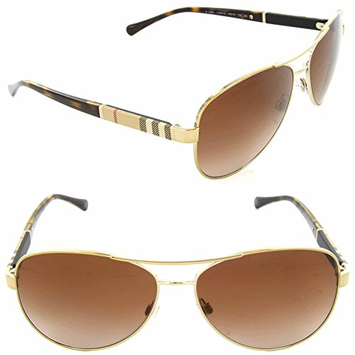 Burberry+Unisex+0BE3080+Gold%2FBrown+Gradient+Sunglasses
