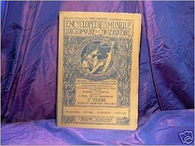 Livre Encyclopedie de la musique/t6/1931 epub, pdf